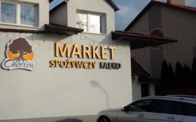 Świecące litery 3D – Market Falko