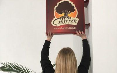 Kasetony reklamowe dla firmy Chorten